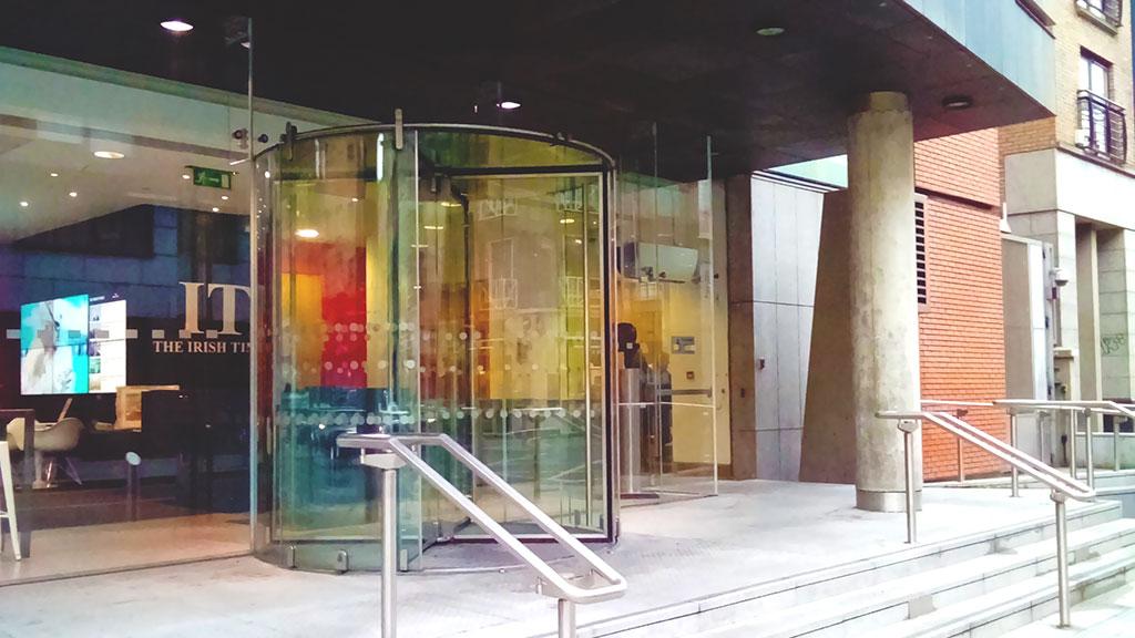Irish Times front entrance